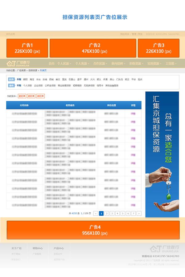 担保资源列表页广告样式